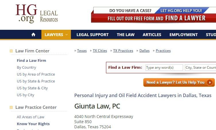 Attorney Frank Giunta profile at hg.org