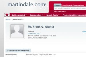 Attorney Frank Giunta profile at Martindale